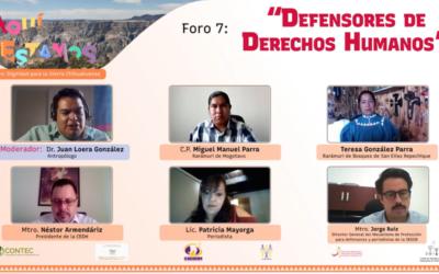 Foros Aquí Estamos #7: Defensores de Derechos Humanos
