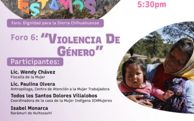 Foros Aquí Estamos #6: Violencia de género
