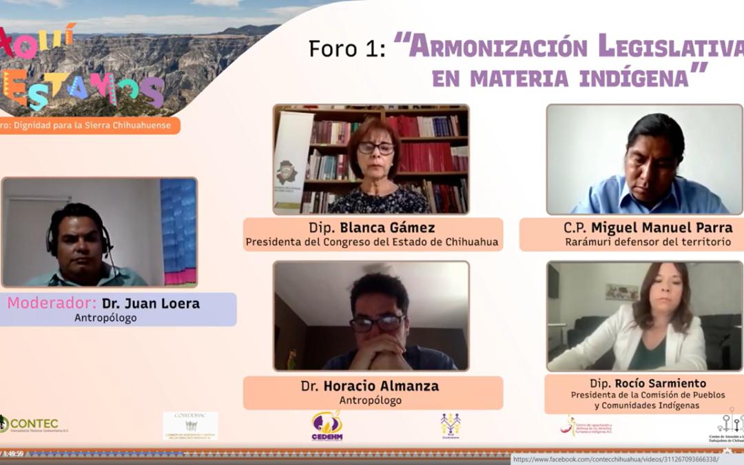 Foros Aquí Estamos #1: Armonización legislativa en materia indígena