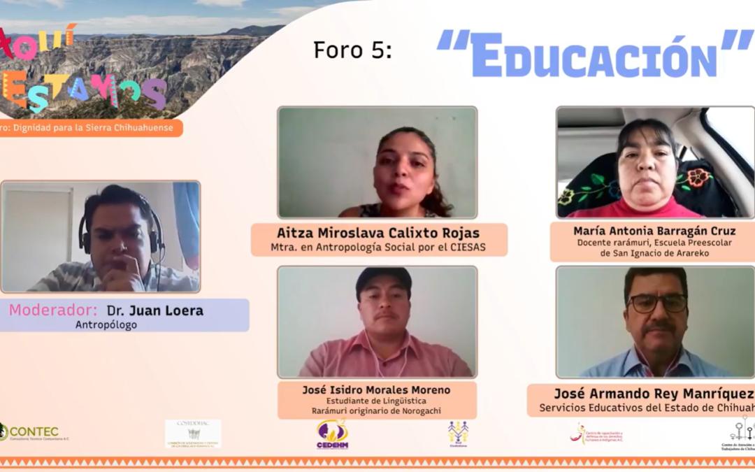 Foros Aquí Estamos #5: Educación