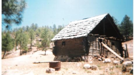 Casa en Huitosachi, comunidad Rarámuri.