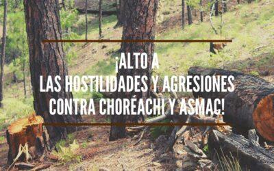Respaldo total a la comunidad de Choréachi, Guadalupe y Calvo, Chih, en la defensa de su territorio y a las acciones que en su apoyo realiza Alianza Sierra Madre, A.C.